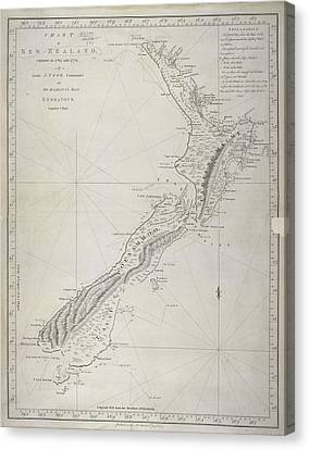 New Zealand Canvas Print by British Library