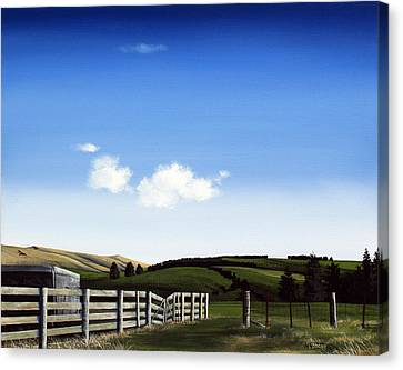 Aotearoa Canvas Print - New Zealand Farm Gate By Linelle Stacey by Linelle Stacey