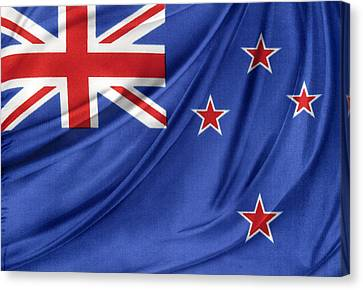 New Zealand Flag Canvas Print by Les Cunliffe