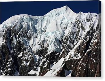 Canvas Print featuring the photograph New Zealand Mountains by Amanda Stadther