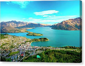 New Zealand, South Island, View Towards Canvas Print by Miva Stock