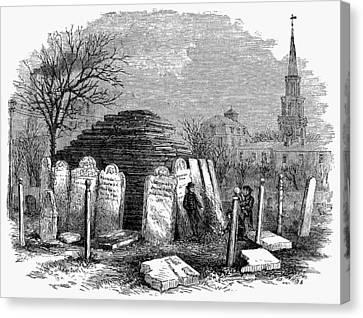 Newark Cemetery, 1876 Canvas Print by Granger