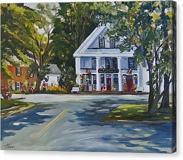 Newbury Village Store Canvas Print by Nancy Griswold