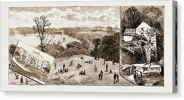 Newcastle, Uk, 1881 Elswick Park, Sculpture Gallery Canvas Print by Litz Collection