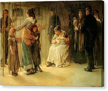 Newgate Committed For Trial, 1878 Canvas Print by Frank Holl