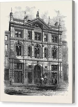 Newly Erected Offices Of The Peninsular And Oriental Steam Canvas Print by English School