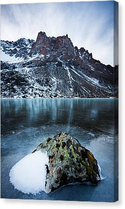 Canvas Print featuring the photograph Frozen Mountain Lake by Tim Newton