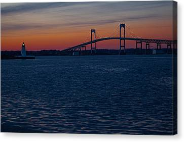 Newport At Sunset Canvas Print by Robert  Torkomian