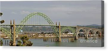 Canvas Print featuring the photograph Newport Bay Bridge by Susan Garren