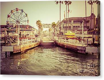 Newport Beach Balboa Island Ferry Dock Photo Canvas Print by Paul Velgos
