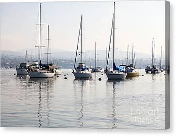 Newport Beach Bay Harbor California Canvas Print by Paul Velgos