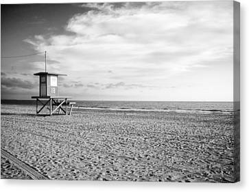 Newport Beach Lifeguard Tower Canvas Print by Tanya Harrison