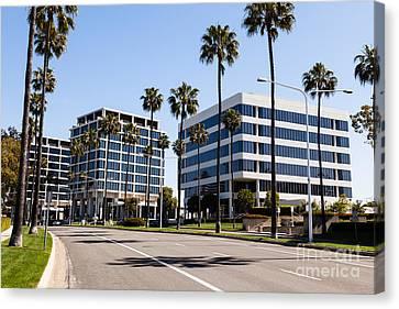 Newport Beach Office Buildings Orange County California Canvas Print by Paul Velgos