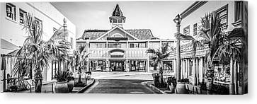 Newport Beach Panorama Of Balboa Main Street Canvas Print by Paul Velgos