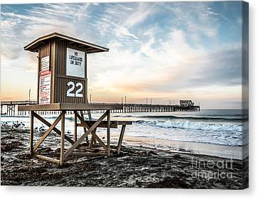 Newport Beach Pier And Lifeguard Tower 22 Photo Canvas Print