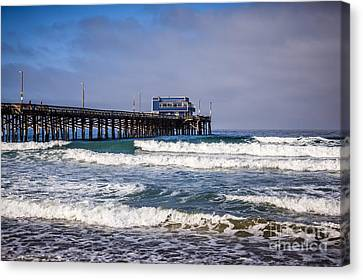 Western Usa Canvas Print - Newport Beach Pier In Orange County California by Paul Velgos