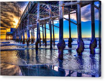 Newport Beach Pier - Low Tide Canvas Print