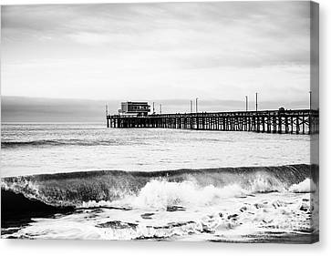 West Coast Canvas Print - Newport Beach Pier by Paul Velgos
