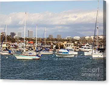 Newport Beach Skyline In Orange County California Canvas Print by Paul Velgos