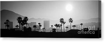 Newport Beach Skyline Sunrise Panoramic Picture Canvas Print by Paul Velgos