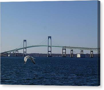 Newport Bridge Canvas Print by Robert Nickologianis