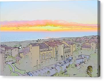 Newport Coast Sunset Canvas Print by Penny Lisowski