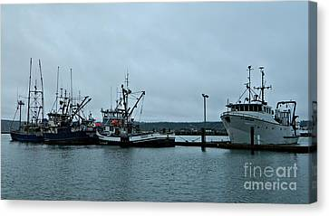 Newport Fishing Boats Canvas Print