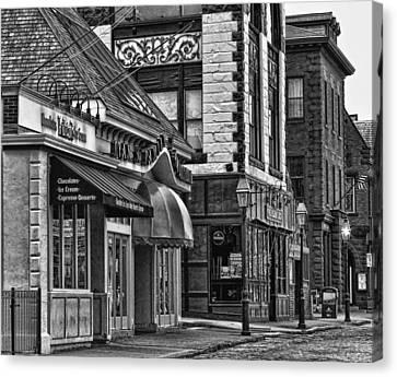Newport In Monochrome Canvas Print