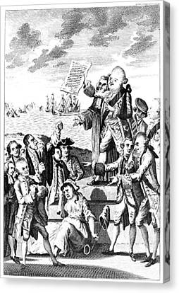 News From America, 1776 Canvas Print by Granger