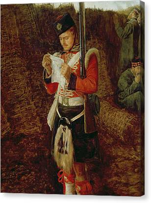 News From Home Canvas Print by Sir John Everett Millais