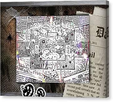 News Canvas Print by HollyWood Creation By linda zanini