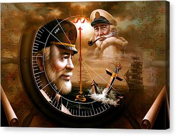 Imperishable Two Map Captain 3 Canvas Print