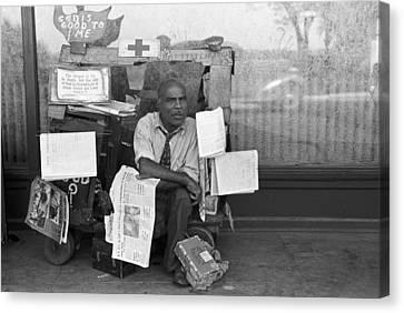 Newspaper Peddler, 1938 Canvas Print by Granger