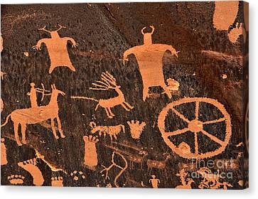 Newspaper Rock Close-up Canvas Print by Gary Whitton