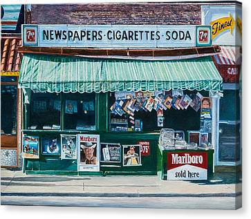 Newspaper Stand West Village Nyc Canvas Print by Anthony Butera