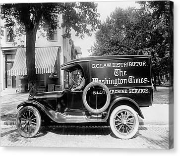Newspaper Truck Canvas Print