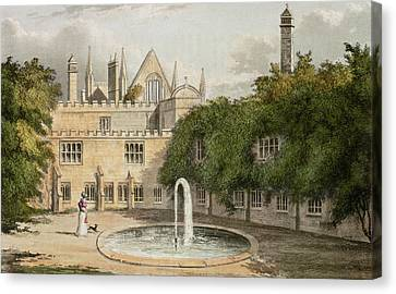 Newstead Abbey, From R. Ackermanns Canvas Print by English School