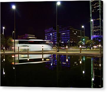 Canvas Print featuring the photograph Next Stop by John Babis