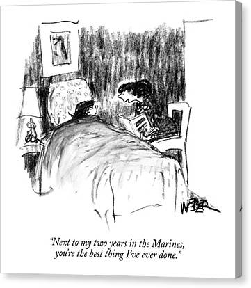 Next To My Two Years In The Marines Canvas Print by Robert Weber