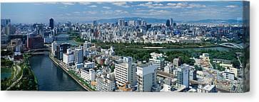 Neya River Osaka Japan Canvas Print by Panoramic Images