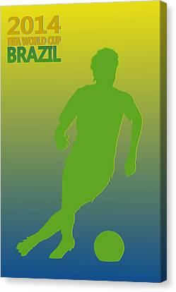Neymar Brazil World Cup Canvas Print by Joe Hamilton