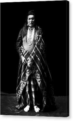 Indigenous Canvas Print - Nez Perce Indian Circa 1899 by Aged Pixel