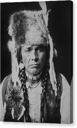 Old Man Canvas Print - Nez Perce Indian Circa 1904 by Aged Pixel