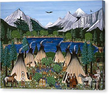 Nez Perce Wallowa Lake Canvas Print