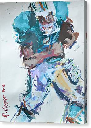 Nfl Football Painting Canvas Print by Robert Joyner