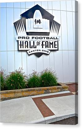 Nfl Hall Of Fame Canvas Print by Frozen in Time Fine Art Photography