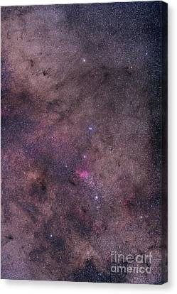 Ngc 6231 Area Oriented Equatorially Canvas Print by Alan Dyer