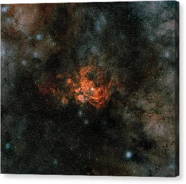 Ngc 6357 Nebula Canvas Print by Davide De Martin (esa/hubble), The Esa/eso/nasa Photoshop Fits Liberator & Digitized Sky Survey 2