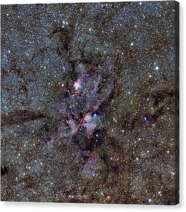 Ngc 6357 Nebula Canvas Print by Eso/vvv Survey/d. Minniti. Acknowledgement: Ignacio Toledo