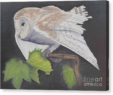 Canvas Print featuring the painting Nght Owl by Laurianna Taylor